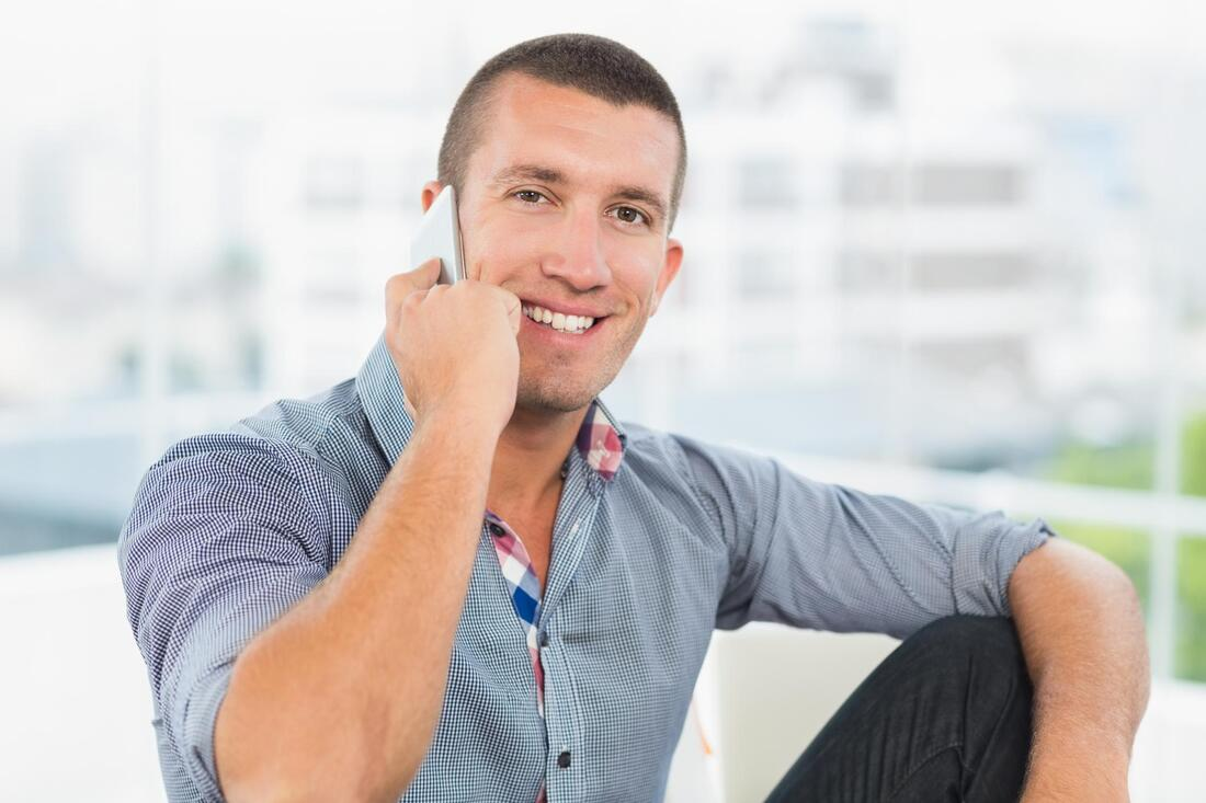 man taking phone call